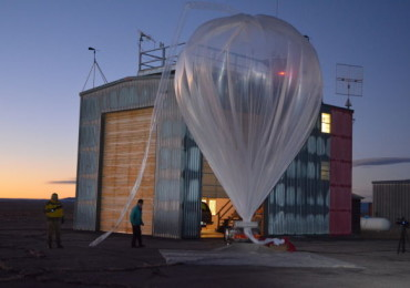 Staff with the University of Wyoming's Department of Atmospheric Science prepare a balloon for launch in this undated file photo. The UW program to measure stratospheric aerosols is the oldest in the country.