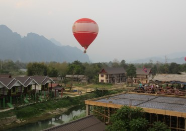 Balloon over Vang Vieng