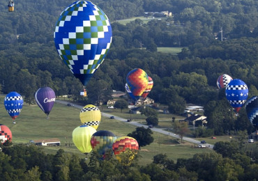 Hot air balloons fill the skies  Friday, July 29, 2011 during the Great Texas Balloon Race in Longview, Texas.