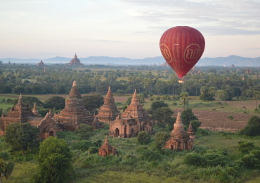 Flying over the temples of Bagan