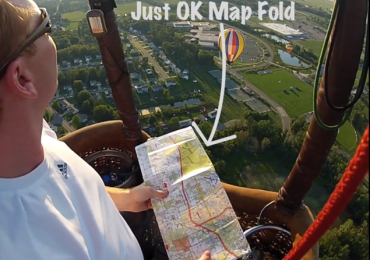 How to fold a ballooning map