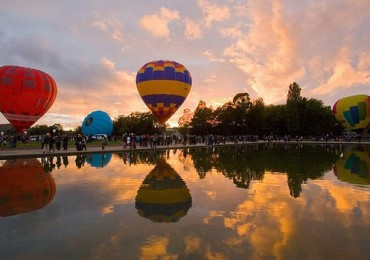 Balloons at Dawn in Canberra