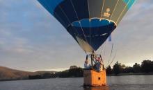 Hot Air Balloon Towing a Kayak