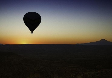 Hot air balloons fill the sky in Cappadocia, Turkey. (Afonso Salcedo)