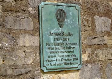 James Sadler Plaque Oxford