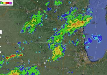 Screenshot from the Rain-Alarm app.