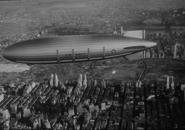 USS Akron over New York