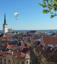 Unique balloon ride over the city of Tallinn