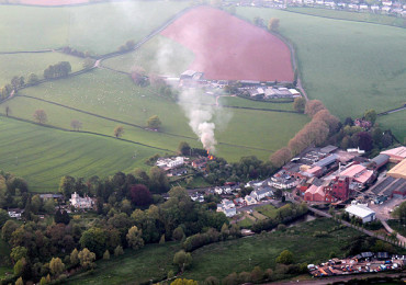 The fire which was reported to the fire brigade by the passengers of a hot air balloon.