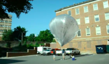 Infrasound balloons to detect distant explosions